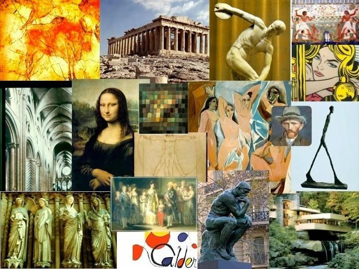 Collage de imágenes de diferentes épocas
